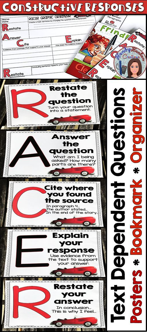 Help your students write constructive responses to text dependent questions.