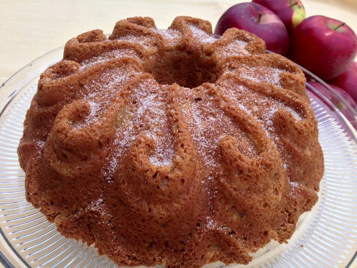 Apple Cake Just a Spice Cake Mix and Fresh Apples | Bundt
