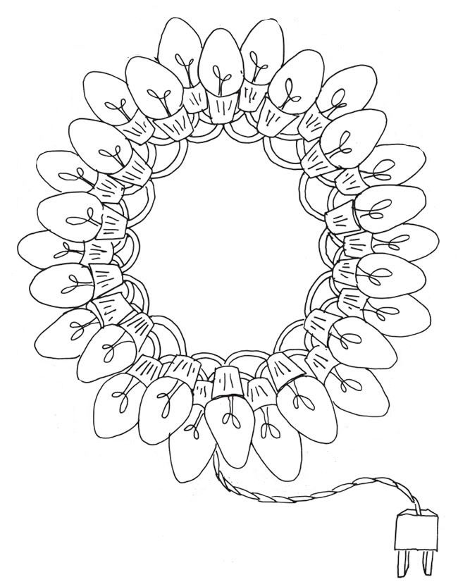 Christmas Lights Christmas Coloring Sheets Christmas Coloring Pages Christmas Colors