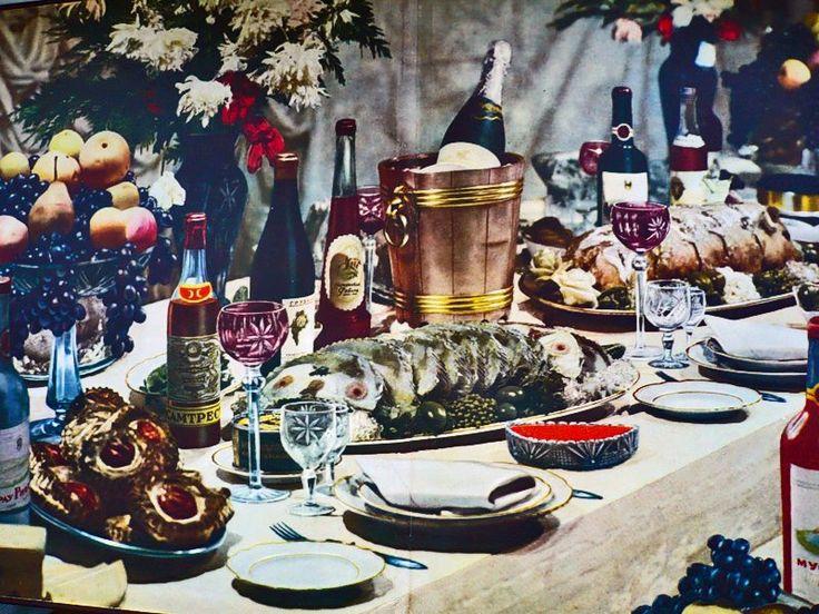 Dinner table, Soviet style