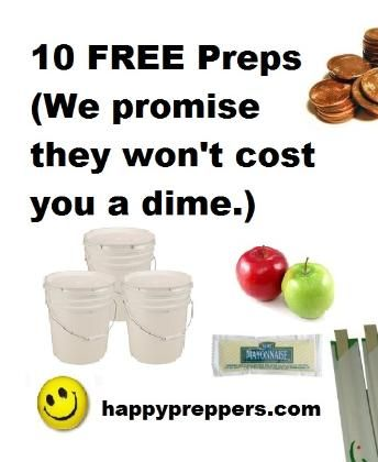 Prepping is the art of building skills, knowledge and supplies for survival. Prepping requires both time and money. In the beginning, prepping is an overwhelming feeling for newbie preppers of how to spend these resources wisely. Following is a list to help get started prepping without spending a dime. http://www.happypreppers.com/10-free-preps.html