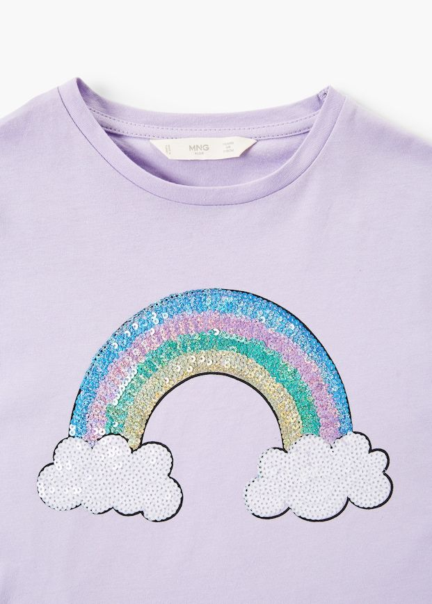d8859a8ac Embroidered sequin -shirt - Girls | Illustration-Sun. Moon. Star. Cloud.  Rainbow | Sequin shirt, Girls fashion clothes, Shirts for girls
