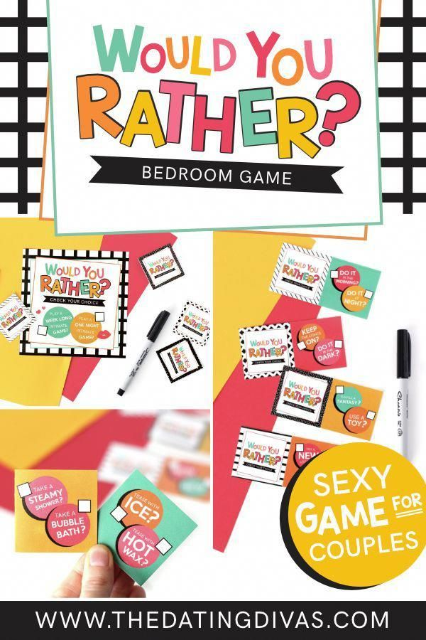 Sexy Would You Rather Bedroom Games for Couples. An easy, at-home sexy bedroom game for after the kids are in bed. #BedroomGame #sexydate #DatingDivas…