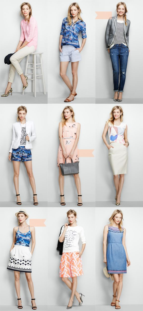 J.Crew Factory Looks {Pink & Paradise}