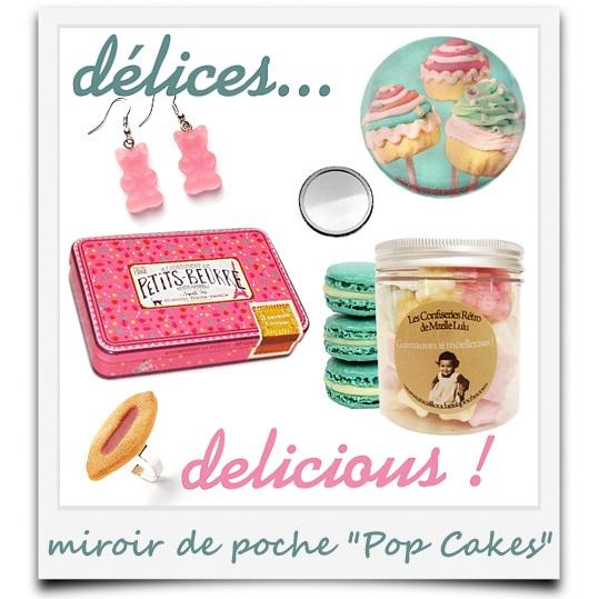 j'ai du style avec mon miroir de poche Pop Cakes