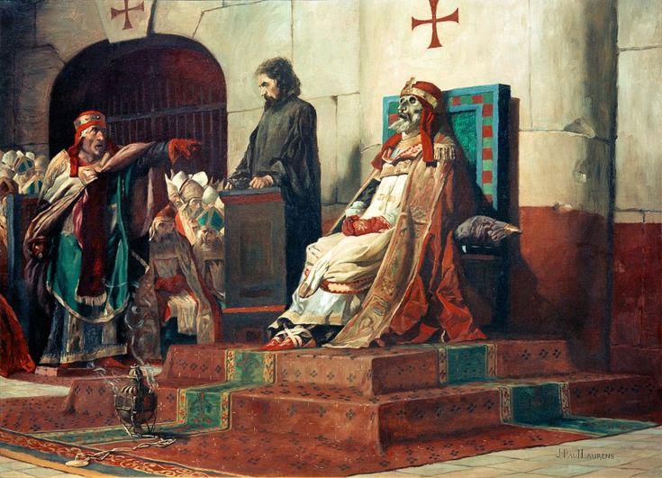 Le Pape Formose et Étienne VII, 1870 ~ by Jean-Paul Laurens…