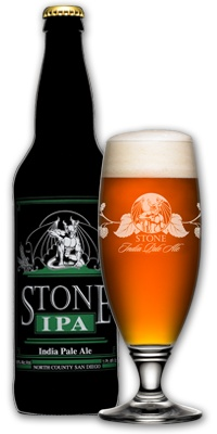 """An ""India Pale Ale"" by definition is highly hopped and high in alcohol - you'll find our Stone India Pale Ale to be true to style with a huge hop aroma, flavor and bitterness throughout. If you're a hop-head like us, then you'll love our Stone India Pale Ale! Medium malt character with a heavy dose of over the top hops! Generous ""dry hopping"" gives this beer its abundant hop aroma and crisp hop flavor. ALC/VOL 6.9%, 77 IBUs"""