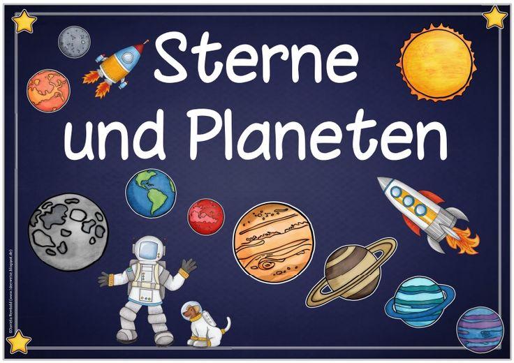 """Ideenreise: Themenplakat """"Sterne und Planeten"""""""