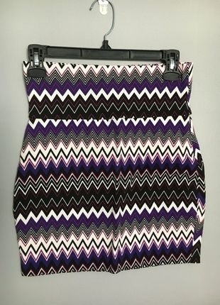 Purple Body Con Skirt