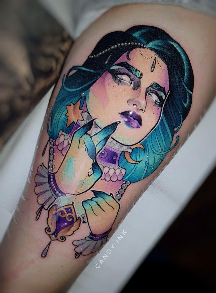 witch #tattoo #dark #girly #new #school #neo #traditional | Tattoos ...