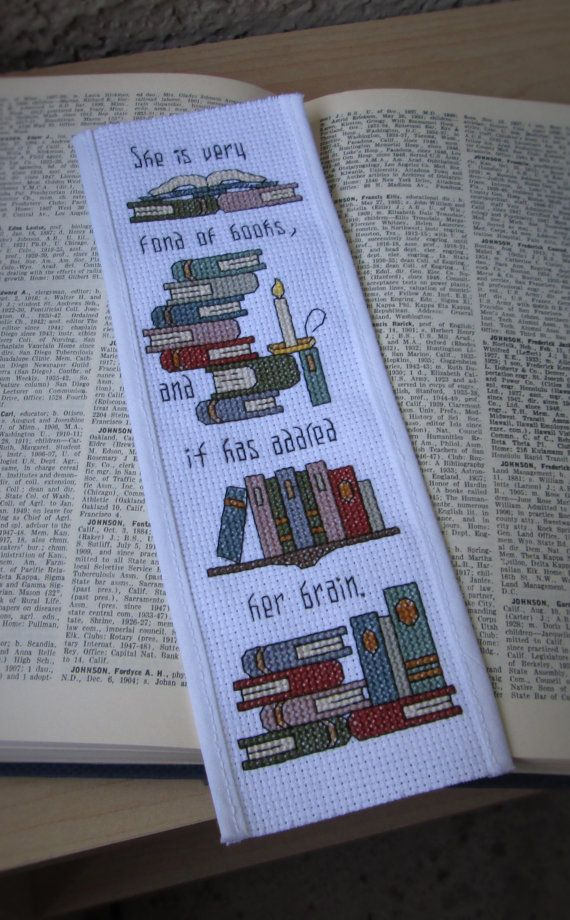 Cross Stitch Pattern Addled Her Brain Bookmark by PictureThisCC, $5.00