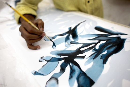 Maiyet hand painted fabrics