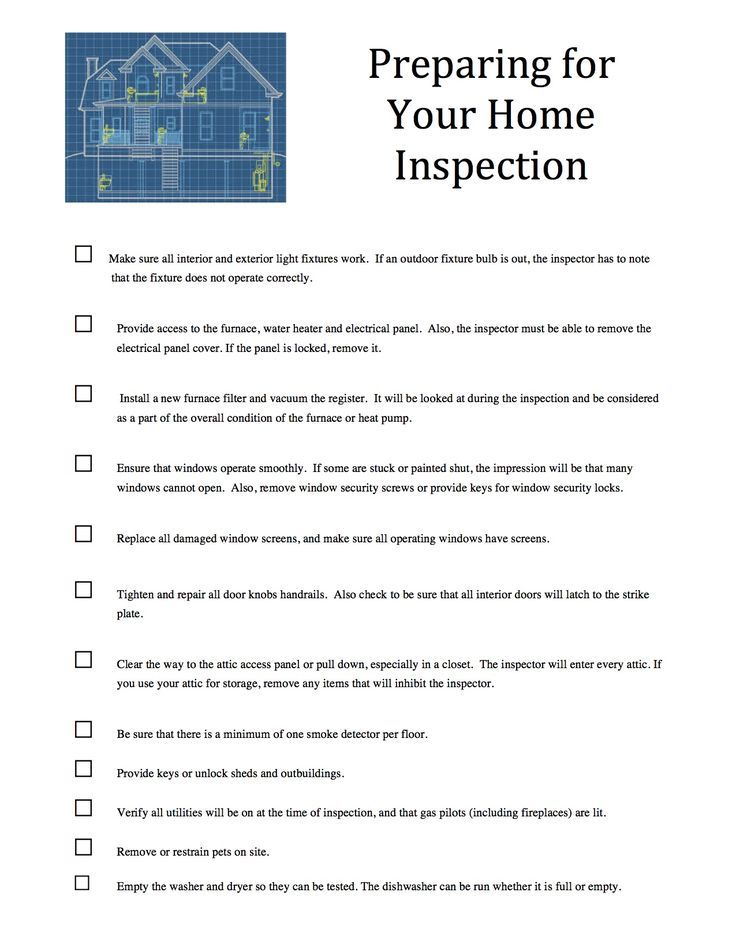 Are you preparing to have a home inspection check out our