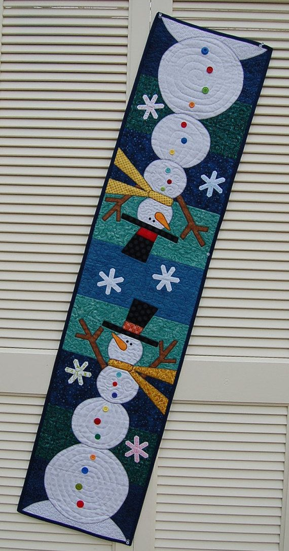 Table Runner Quilted table Runner A whimsical by MyCottonandThread