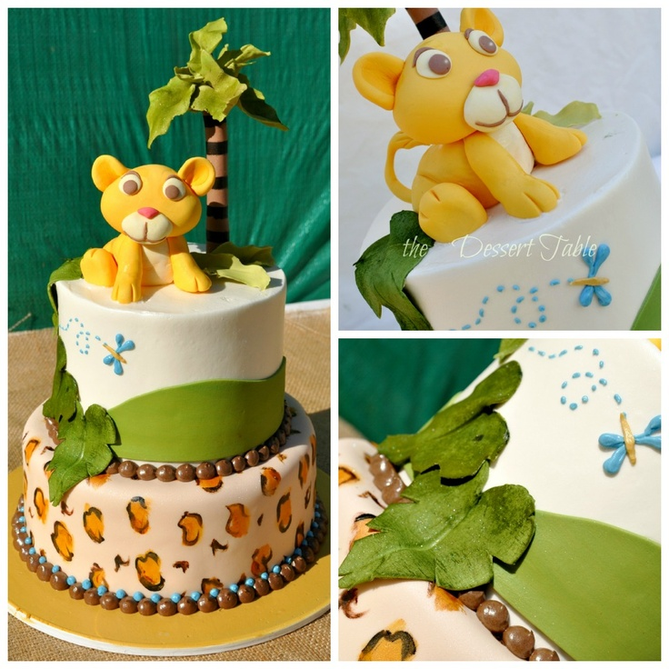 Baby Lion King Baby Shower Decorated Cake