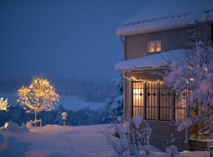 Punschveranda byggnadsvård christmas lights