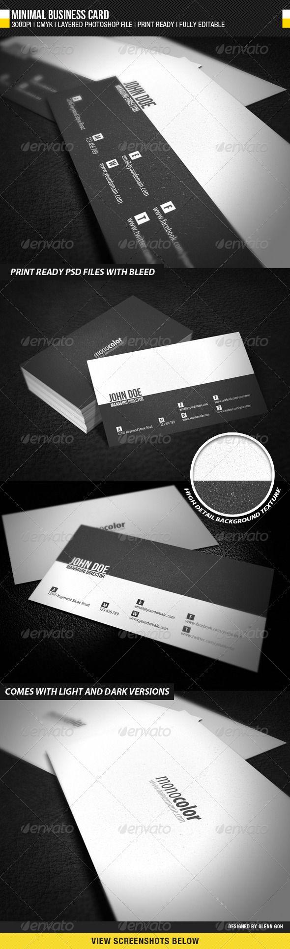 minimal business card minimal business business card