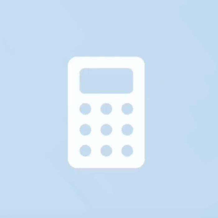 Ios14 Aesthetic Pale Blue Calculator App Icon Iphone Photo App Blue Wallpaper Iphone App Store Icon