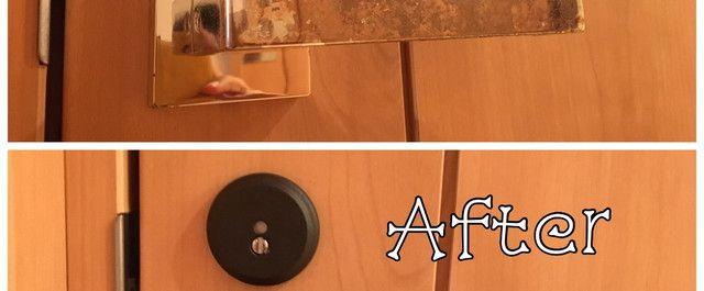 トイレのドアノブ 鍵付き を自分で交換 なぁんだ こんなに簡単にできちゃった ドアノブ 鍵 ドアノブ ドア 鍵