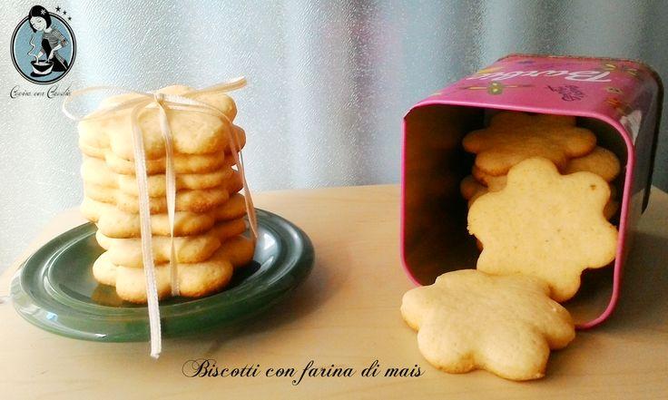 Biscotti con farina di mais, sono semplici da preparare e li possiamo gustare all'ora della colazione o la merenda.Una ricetta tipica della Regione Piemonte