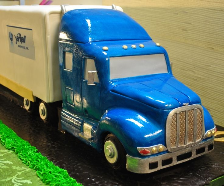 3D 18wheeler cake - Semi Truck celebration cake - company has been in business for 100 years - by The cake Zone