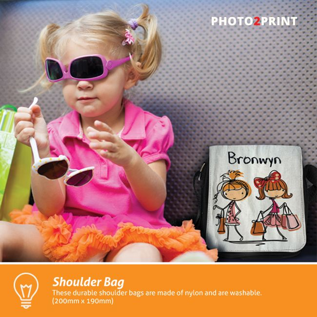 Bring on the cuteness with our Shoulder Bags. You can personalise the entire front flap with your favourite photo. #shoulderbags #gift #productidea #photo2print