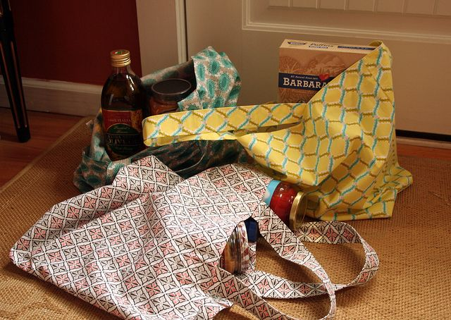 Green Grocery Bag Challenge by | Cloud9 Fabrics, via Flickr