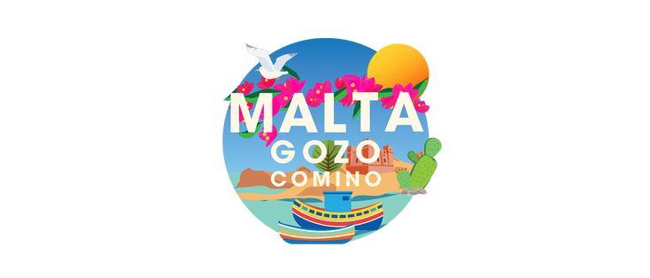 Malta // Illustrated map on Behance