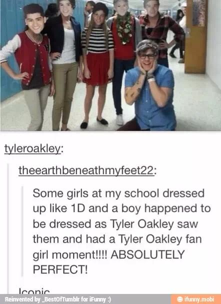 WHY AM I NOT IN THAT SCHOOL?!!<<<< OMG I NEED THAT TO HAPPEN RSJSKDYYDTJEA>>>>> I love Tyler Oakley That would have been amazing but my school isn't like that…