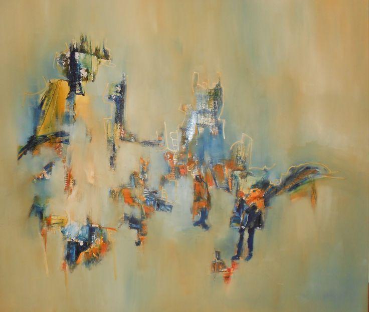 """""""Hallazgos"""" - Silvia Hilerowicz - Oleo sobre tela - 80 x90 cm  www.esencialismo.com"""