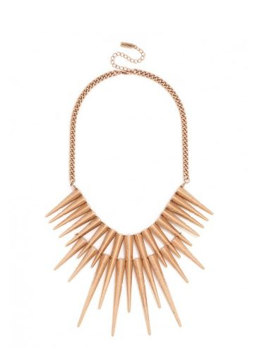 Spiked Bib Necklace