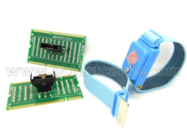 Quick check our laptops RAM Memory(DDR2 and DDR3) slots connections for no POST no display. Handy and neat, save time and money. Must have! www.pctestcards.co.uk