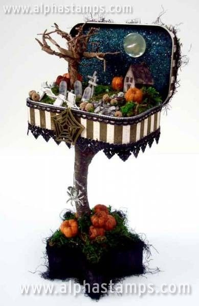www.AlphaStamps.com Gallery - Mini Halloween Diorama