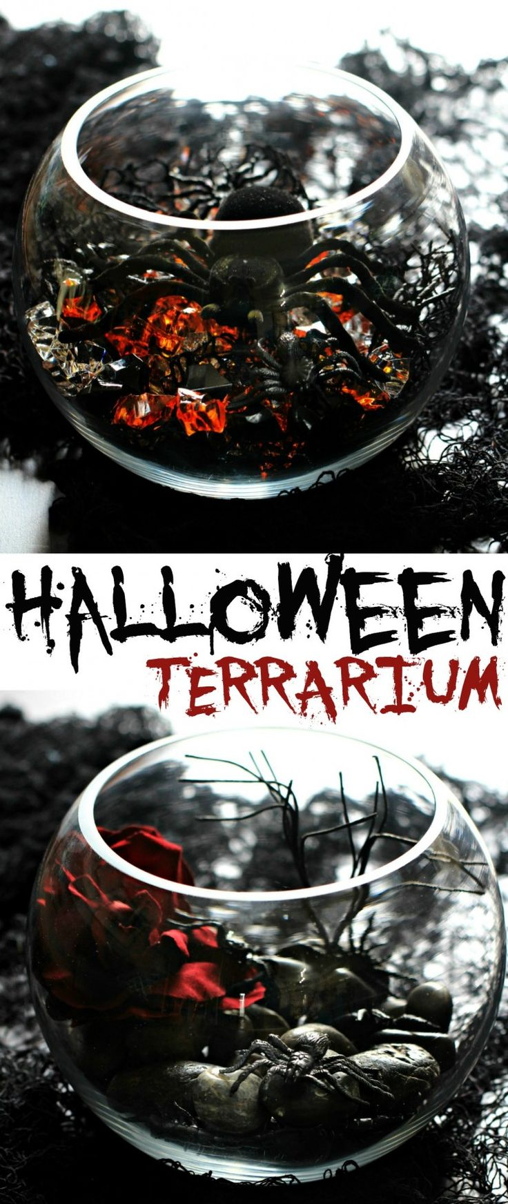 add a haunting halloween terrarium to your party use a clear glass bowl to start - When To Start Decorating For Halloween