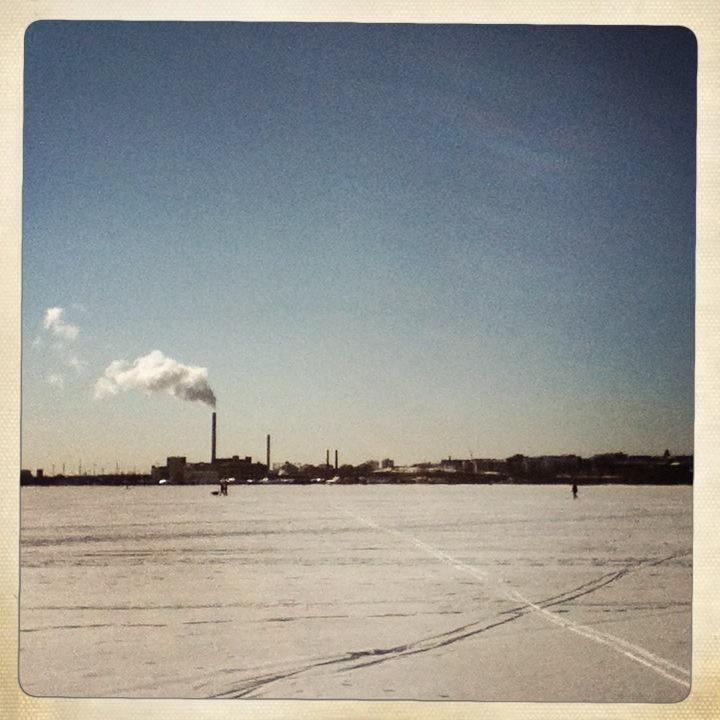 Frozen sea, Helsinki, March 2013
