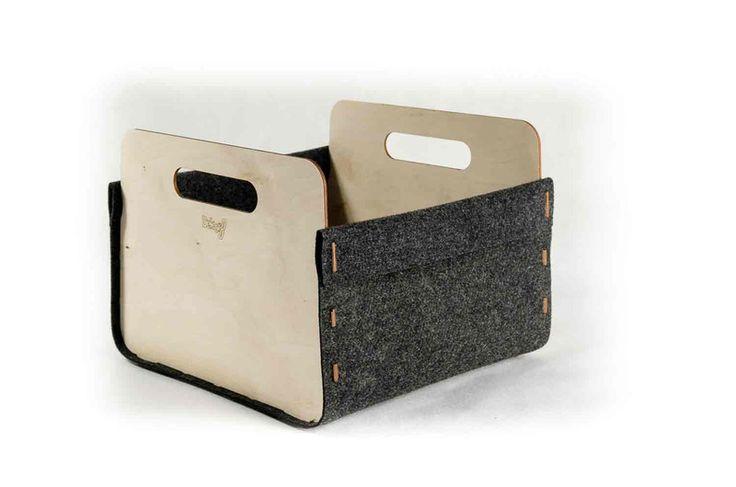 dekoracyjny pojemnik do przechowywania w regale - dekor8 - Skrzynki i pudełka