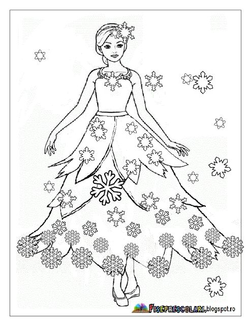 Färbung mit ZANA WINTER - Winterfee Bilder | Arbeitsblätter - Kindergarten