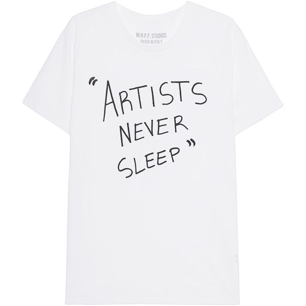 MNPF CLOTHING Artists White // T-shirt with lettering ($79) ❤ liked on Polyvore featuring men's fashion, men's clothing, men's shirts, men's t-shirts, tops, shirts, t-shirts, short sleeve, mens leopard print t shirt and mens short sleeve shirts