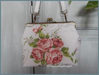 Romantikus rózsás kézitáska / Romantic rose handbag