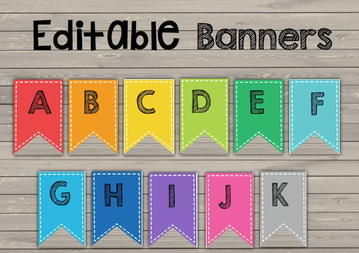 Banners {EDITABLE} Classroom, Birthday, Organizing and more!