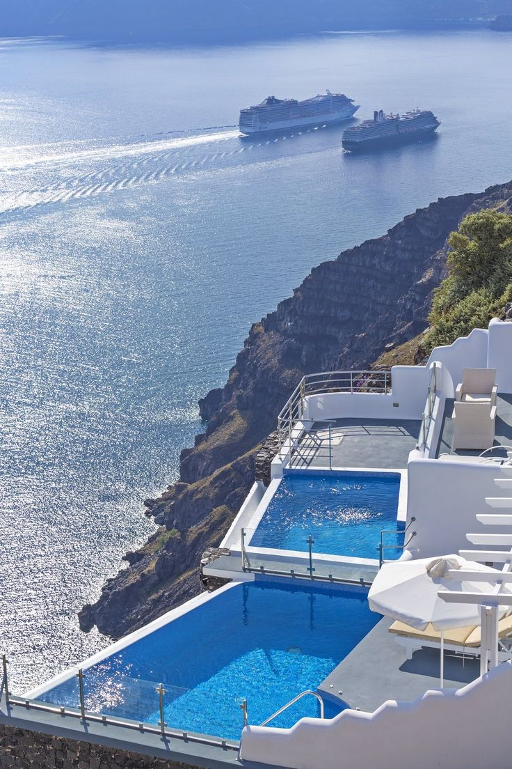 268 best images about rebozos y chals on pinterest free for Hotels in santorini with infinity pools