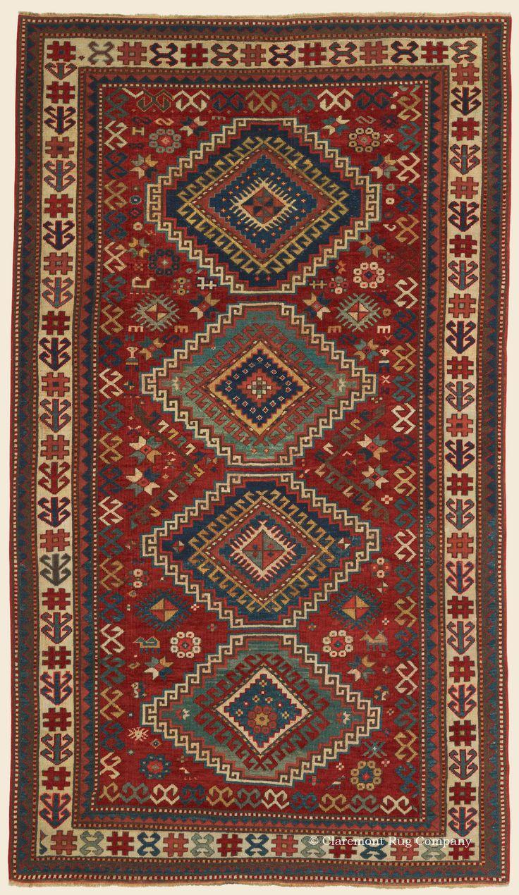 KAZAK, Southern Central Caucasian Antique Rug X U2014 Late Century   Claremont  Rug Company