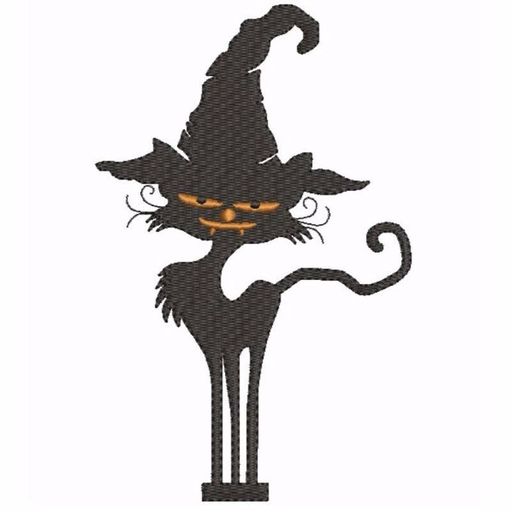 Halloween Cat Embroidery design Black cat  balck designs animal pattern instant digital file download by SvgEmbroideryDesign on Etsy