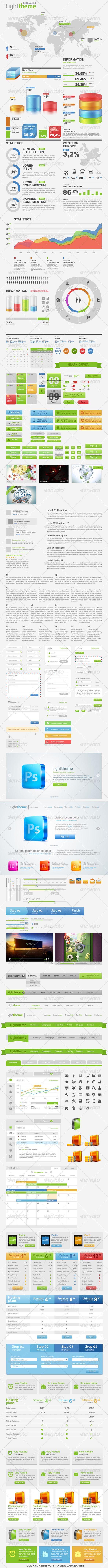 Light Theme Big Pack Web Constructor 1.0