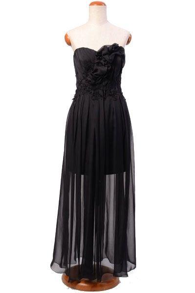 Wieczorowa, jedwabna suknia - czarna | Milita Nikonorov oficjalny butik projektantki