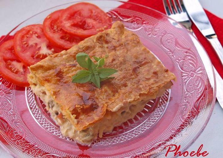 Κοτόπιτα με μανιτάρια και μπέικον #cookpadgreece