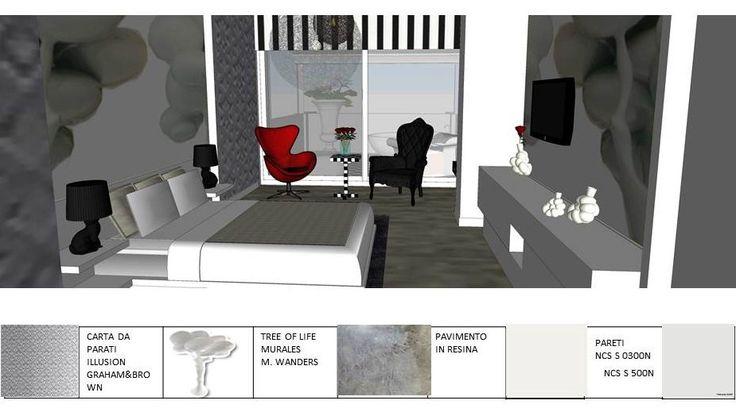 Esami finali Corso di Interior Design (www.madeininterior.it): progetto di interni, Anna Ruggieri