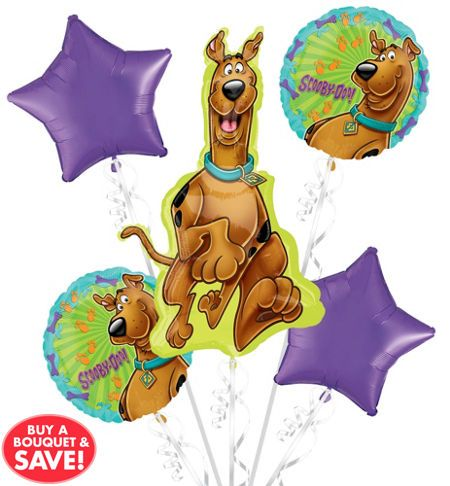 Happy Birthday Scooby-Doo Balloon Bouquet 5pc - Party City
