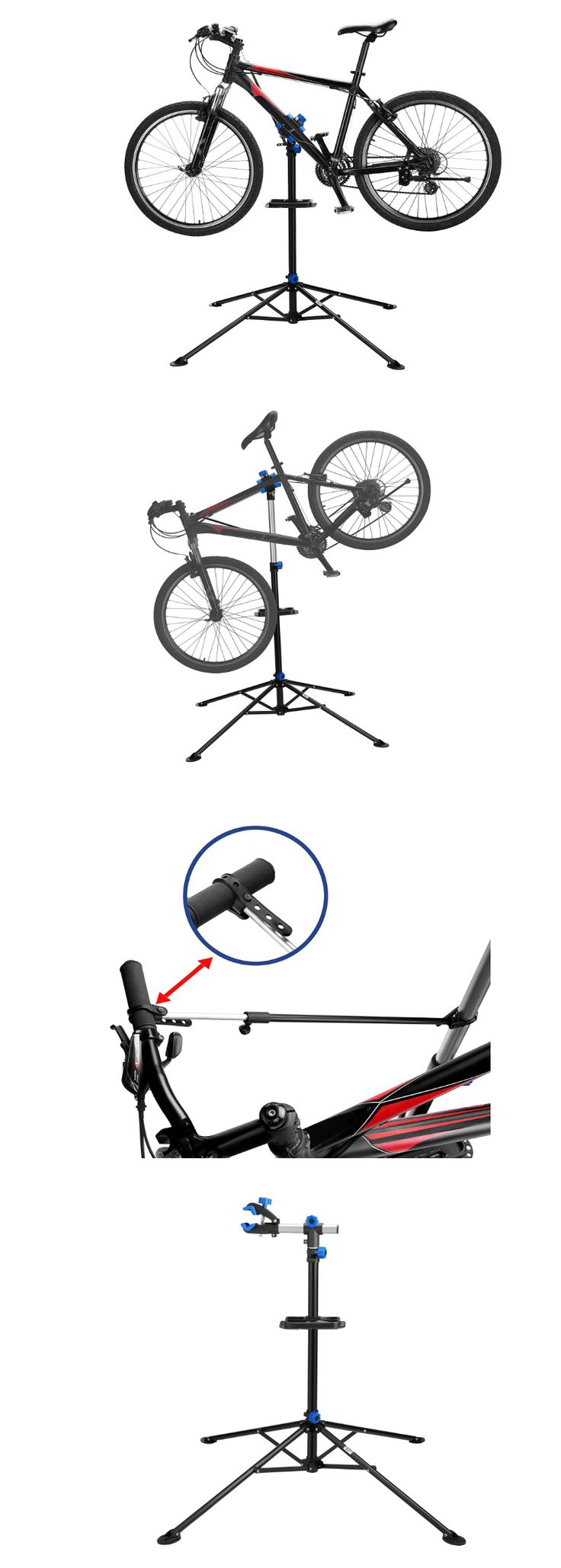 Workstands 177847: Bike Repair Stand Clamp Mountain Racing Adjustable Tool Tray Rotating Heavy Duty BUY IT NOW ONLY: $79.99