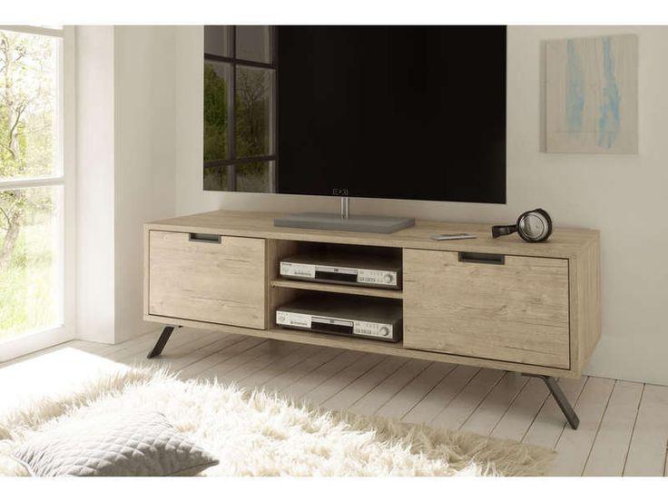 Meuble TV 2 portes long.156 cm SHERWOOD décor sherwood - Vente de Meuble tv - Conforama